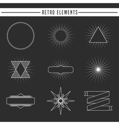 Retro elements design vector
