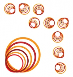 spiral sign vector image vector image
