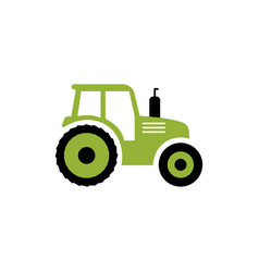 tractor flat icon farm symbol isolated on vector image vector image