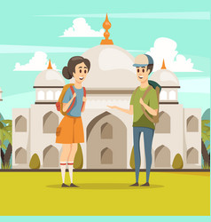 Travel in india flat background vector