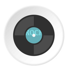 vinyl icon circle vector image