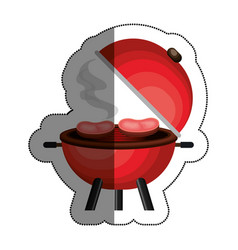Bbq grill delicious food vector