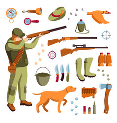 Set of hunting vector