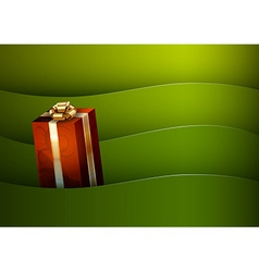 Christmas background green stripe wave vector