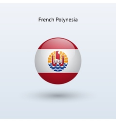 French polynesia round flag vector