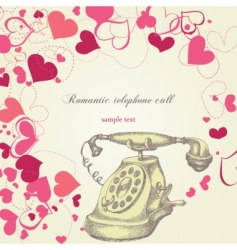 Romantic telephone call vector