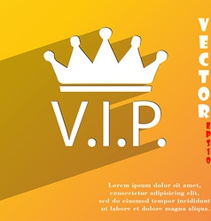 Vip icon symbol flat modern web design with long vector