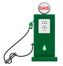 gas pump vector image