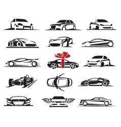 Cars icons set vector