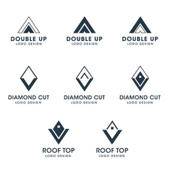 Arrows and diamond logos and icons vector