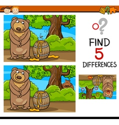 Find differences task for kids vector