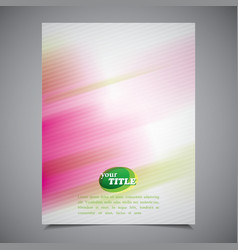 abstract business brochure template colorful vector image