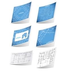Architecture background sticker set vector