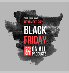 Black friday sale design template conceptual vector