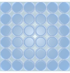 Blue plastic background with circles vector image