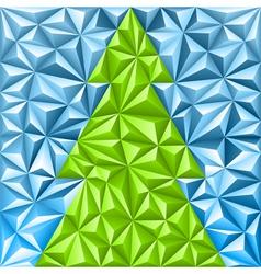 Christmas Mosaic Pattern vector image vector image