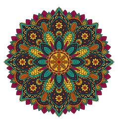 Circle mandala pattern vector