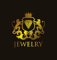 coat of arms jewelry vector image vector image