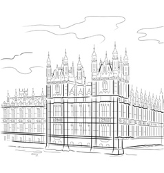 drawing tower in london uk vector image