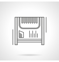 Electric heater flat line icon vector image vector image