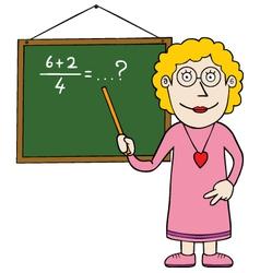 Female maths teacher vector image