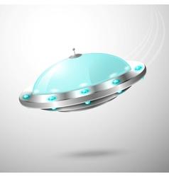 Flying ufo emblem vector image