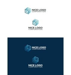 Gallery logo abstract squares vector