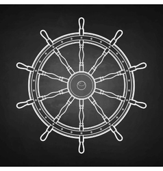 Graphic marine steering wheel vector image