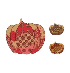 Hand drawn pumpkin set vector image