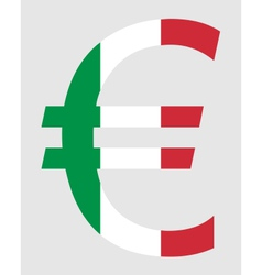 Italian Euro vector image