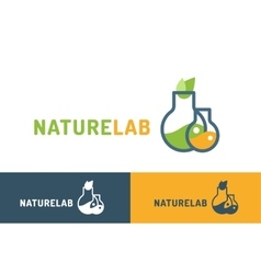 Laboratory ecology logo vector