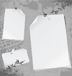 notepaper illustration vector image vector image