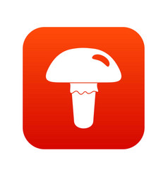 poisonous mushroom icon digital red vector image