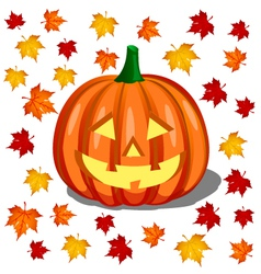 pumpkin - halloween vector image