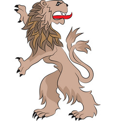 rampant lion vector image vector image