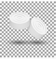 Realistic icon game checkers vector
