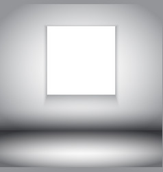 Room interior with blank canvas vector