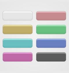 set of three-dimensional buttons vector image vector image