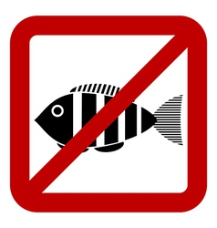 Sign of prohibited fishing vector image
