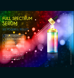 skin serum toner template glass droplet bottle vector image
