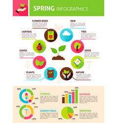 Spring nature infographics vector