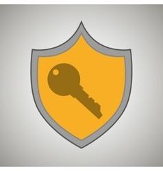 Symbol key safe yellow bakcground vector