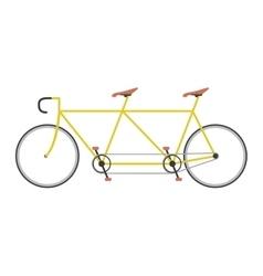 Tandem bike vector