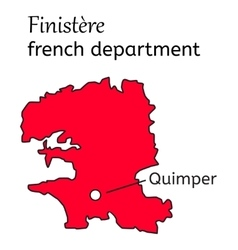 Finistere french department map vector