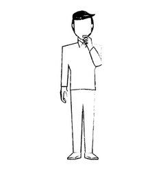 Male thinking character design vector