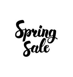 Spring sale handwritten calligraphy vector
