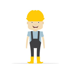 worker vector image