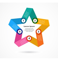 Abstract colorful background infographic with star vector image