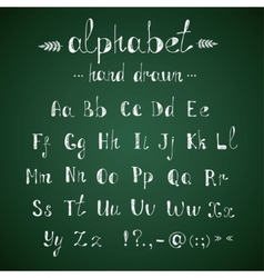 Alphabet and punctuation chalkboard vector