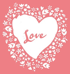 Lovely card heart vector